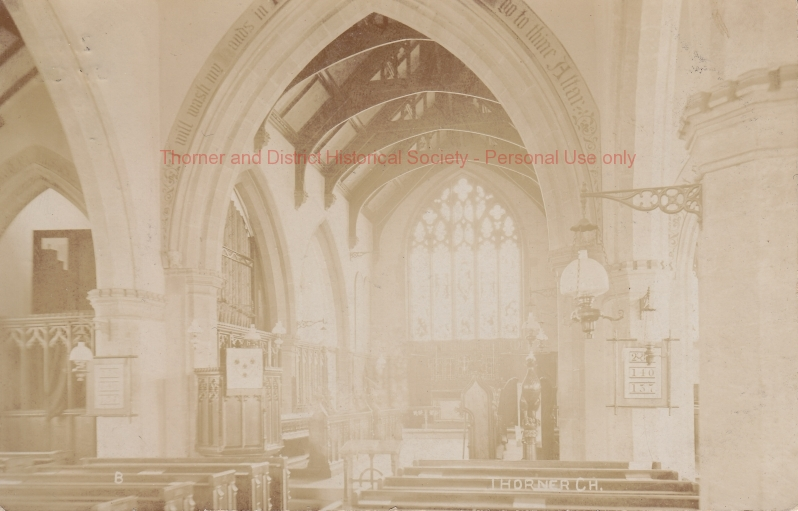 Interior of St Peter's looking towards the Altar - 1890 to 1905 - adlb_0194