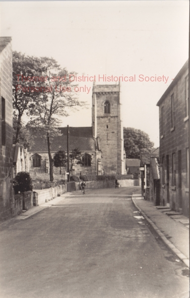 View of St Peter's from Church View cottages - 1930 - adlb_0196